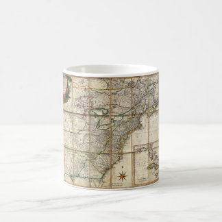 RARE 1779 Colonial America Map by Rene Phelippeaux Classic White Coffee Mug