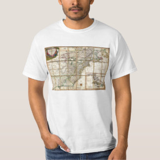 RARE 1779 Colonial America Map by Rene Phelippeaux T Shirt