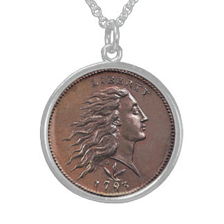 Rare 1793 U.S. Penny Sterling Silver Necklace