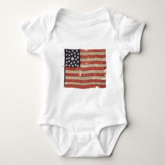 Rare 1850-1865 Period 25 Star U.S. Flag. Baby Bodysuit