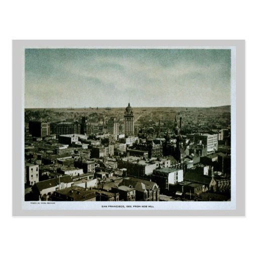 Rare 1903 San Francisco from Nob Hill photo Postcards