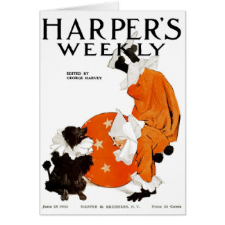 RARE 1910 HARPER'S WEEKLY COVER ART CARD