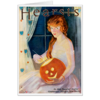 RARE 1919 HEARSTS MAGAZINE COVER ART CARD