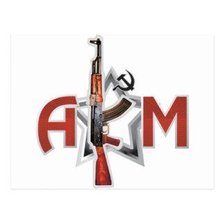 RARE AK-47 AKM ARMY KALASHNIKOV GUN MILITARY POSTCARD
