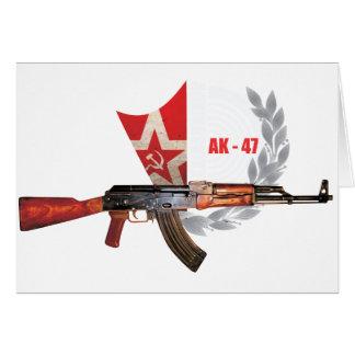 RARE AK-47 ARMY KALASHNIKOV GUN MILITARY CARD