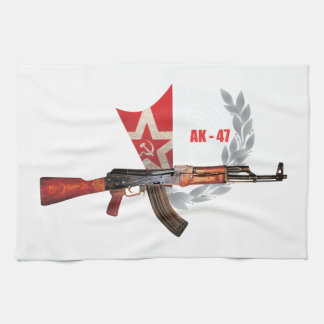 RARE AK-47 ARMY KALASHNIKOV GUN MILITARY HAND TOWELS