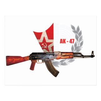 RARE AK-47 ARMY KALASHNIKOV GUN MILITARY POSTCARD
