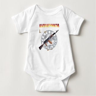 RARE AK-47 RUSSIAN ARMY KALASHNIKOV GUN MILITARY BABY BODYSUIT