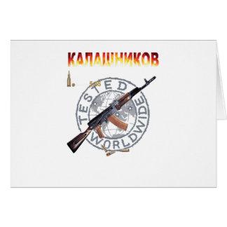 RARE AK-47 RUSSIAN ARMY KALASHNIKOV GUN MILITARY CARD
