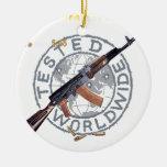 RARE AK-47 RUSSIAN ARMY KALASHNIKOV GUN MILITARY CHRISTMAS TREE ORNAMENT