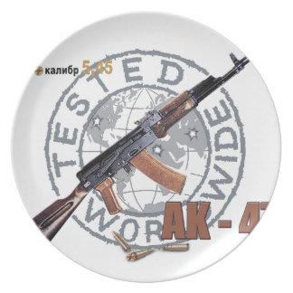 RARE AK-47 RUSSIAN ARMY KALASHNIKOV GUN MILITARY PARTY PLATE