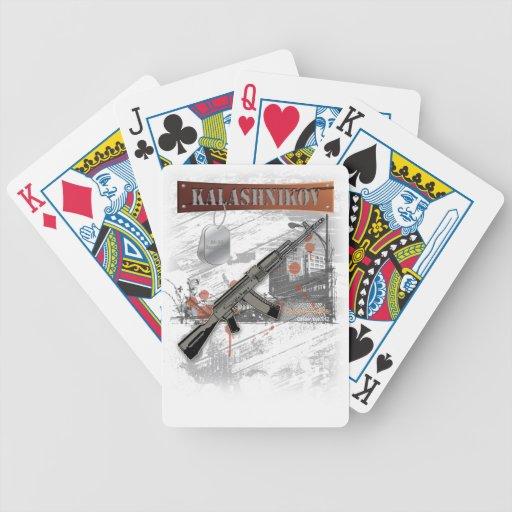 Rare ak 47 russian army kalashnikov gun military playing cards