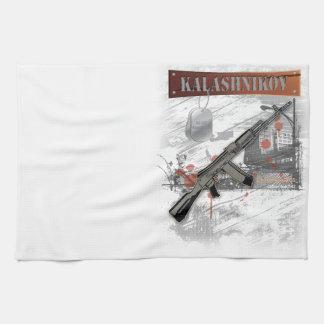 RARE AK-47 RUSSIAN ARMY KALASHNIKOV GUN MILITARY TOWELS