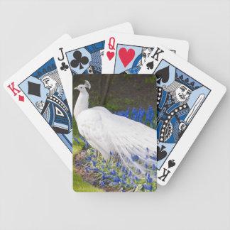 Rare Albino Peacock Design Bicycle Playing Cards