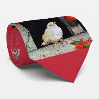 RARE albino robin bird Neck Tie