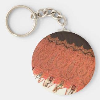 Rare Antique Paisley Shawl Keychains