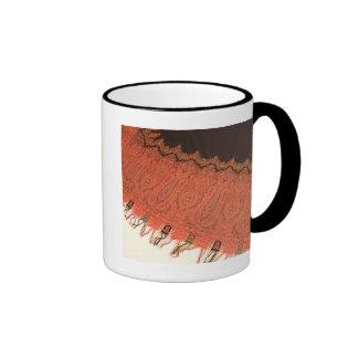 Rare Antique Paisley Shawl Ringer Mug