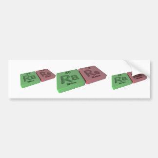 rare as Ra Radium and Re Rhenium Bumper Sticker