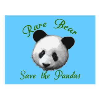 Rare Bear Save the Pandas Postcard