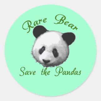 Rare Bear Save the Pandas Stickers