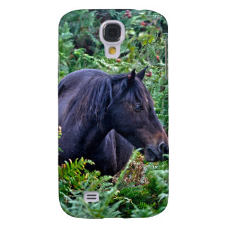 Rare Black New Forest Pony - Wild Horse - England Galaxy S4 Cases