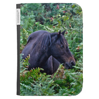 Rare Black New Forest Pony - Wild Horse - England Kindle 3G Covers