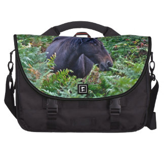 Rare Black New Forest Pony - Wild Horse - England Commuter Bags
