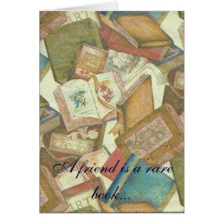 Rare Book Friendship note card