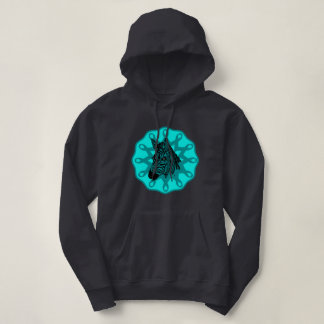 Rare but there! small/large cervical cancer teal hoodie