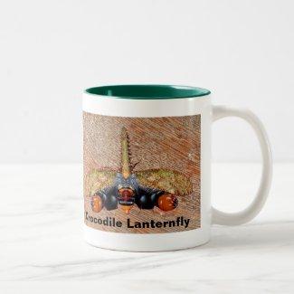 Rare Crocodile Lanternfly (Cathedra Serrata) Two-Tone Coffee Mug