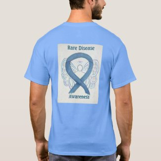 Rare Disease Awareness Ribbon Angel Custom Tee