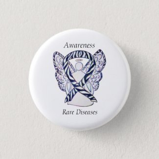 Rare Diseases Awareness Angel Ribbon Pin