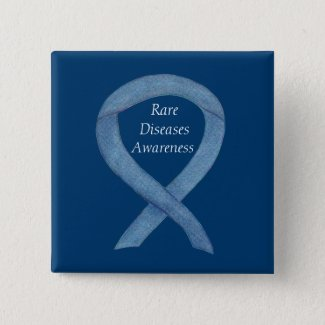 Rare Diseases Denim Awareness Ribbon Pin