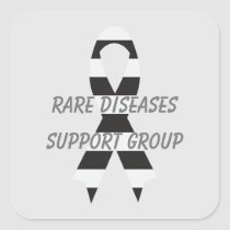 Rare Diseases Zebra Awareness Ribbon by Janz Square Sticker