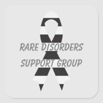Rare Disorders Zebra Awareness Ribbon by Janz Square Sticker