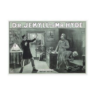 Rare Dr. Jekyll and Mr. Hyde Transformation Poster Canvas Print
