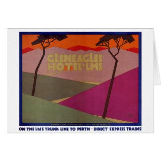 Rare Gleneagles Vintage Travel Poster Restored Card