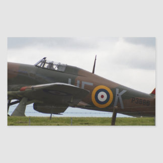 Rare Hawker Hurricane Rectangular Sticker