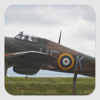 Rare Hawker Hurricane Square Sticker