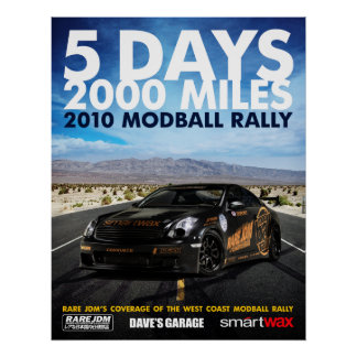 Rare JDM, 2010 Modball Rally Poster