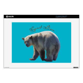 "Rare Kermode Bear (Spirit Bear) Wildlife Design Decals For 15"" Laptops"