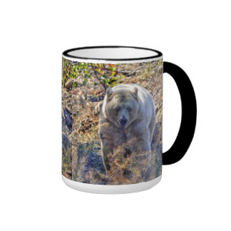 Rare Kermode Bear (Spirit Bear) Wildlife Photo Ringer Coffee Mug