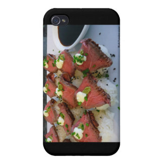 Rare Meat On Sushi Rice Gifts Collectibles iPhone 4 Cases