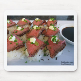 Rare Meat On Sushi Rice Gifts Tees Collectibles Mousepads