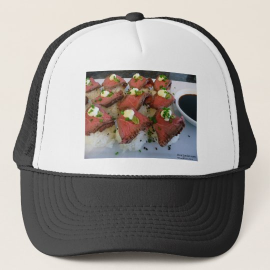 Rare Meat On Sushi Rice Gifts Tees Collectibles Trucker Hat