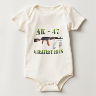 RARE NEW AK-47 KALASHNIKOV GUN BABY BODYSUIT