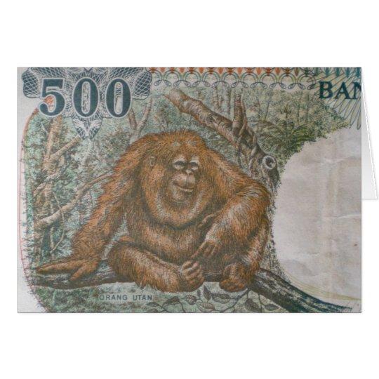 Rare Orangutan Money Card