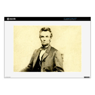 """RARE President Abraham Lincoln STEREOVIEW VINTAGE 15"""" Laptop Decal"""