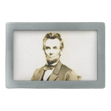RARE President Abraham Lincoln STEREOVIEW VINTAGE Belt Buckle