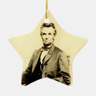 RARE President Abraham Lincoln STEREOVIEW VINTAGE Ceramic Ornament